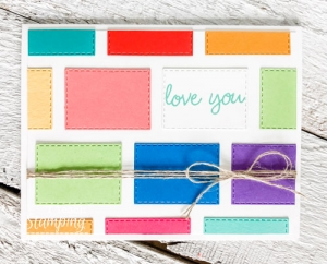 Stitched Rectangles Dies to Make a Handmade Card
