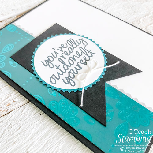 Handmade Card with Foil Paper | layers all assembled
