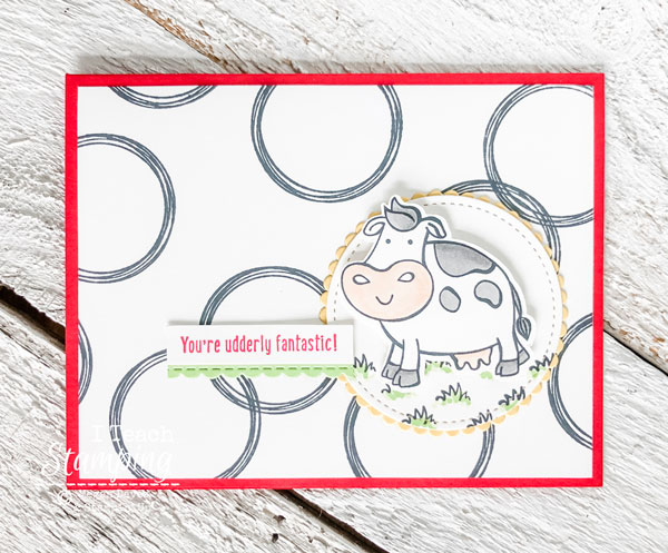 Stampin Up Swirly Frames Card Idea