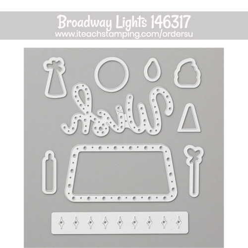 Use this versatile Broadway Lights dies set with any size paper scrap to make an ADORABLE card for anyone!