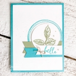handmade card with To A Wild Rose