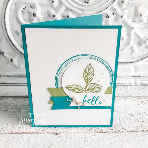 handmade card with To A Wild Rose | adding pearls