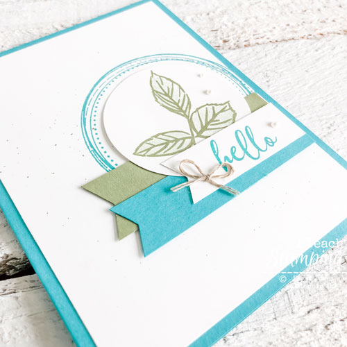 handmade card with To A Wild Rose | adding the bows