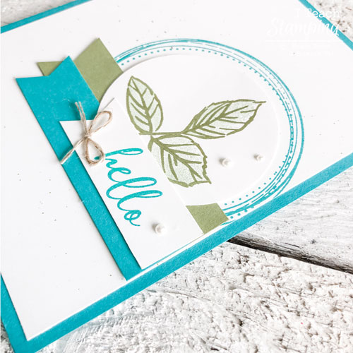 handmade card with To A Wild Rose | all the layers