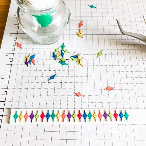 Click through to see how there is no paper scrap too tiny to be useful!