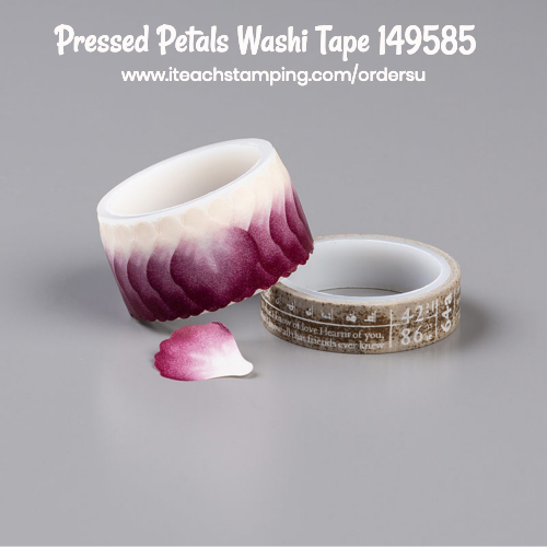 pressed petals washi tape