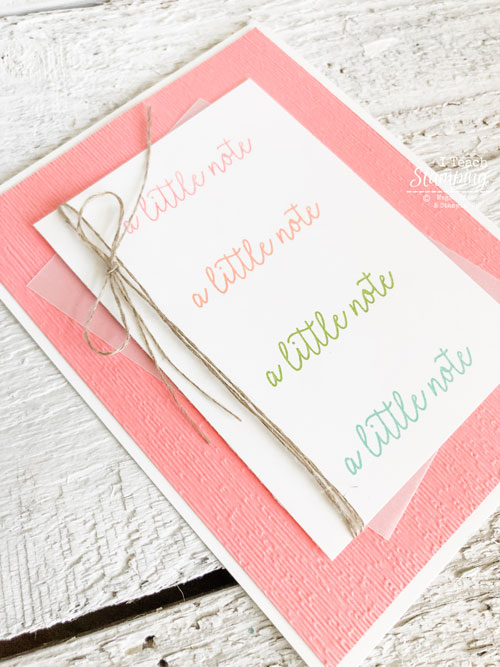 simple and cute handmade card | Hinge stamping technique