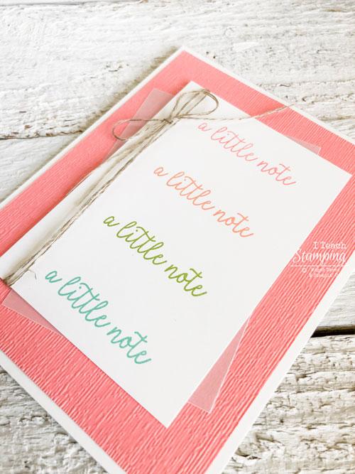 simple and cute handmade card | Linen thread