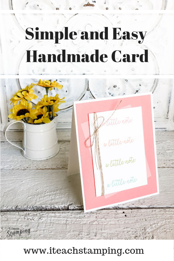simple and easy handmade card