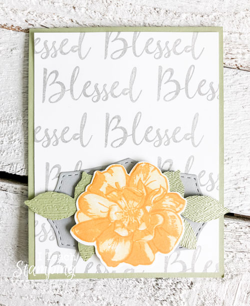 Check out how I made the easy DIY background for this gorgeous card!