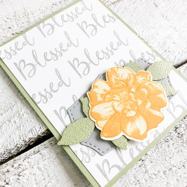 An Easy DIY Background Using One Stamp