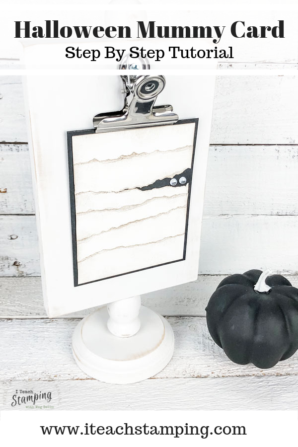Halloween mummy card | make this today