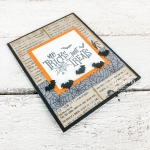 No Tricks, Just Treats Halloween Card | overall layout