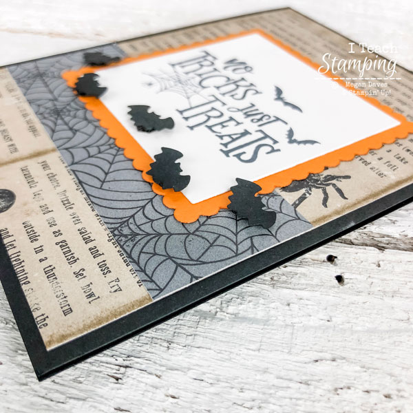 No Tricks, Just Treats Halloween Card | using black dimensionals