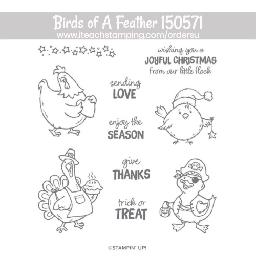 stampin up birds of a feather