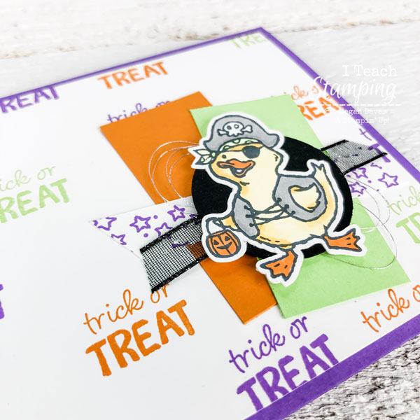 Click through to check out a super cute not so scary Halloween card!