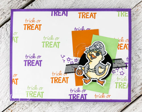 Check out this not so scary Halloween card, perfect for your favorite trick or treater!