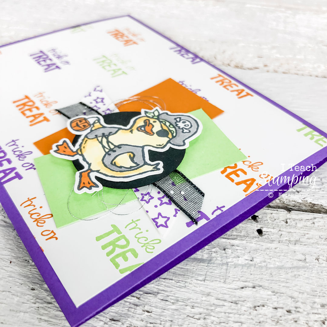 Come learn how I made this adorable not so scary Halloween card!