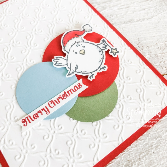 Birds of A Feather Christmas Card | Colored in chick