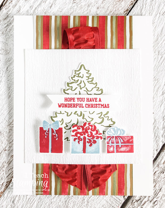 Come see one of my favorite handmade Christmas cards ideas that uses a fabulous product medley!