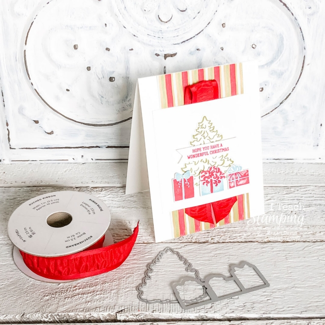Collecting handmade Christmas cards ideas? Click through for a budget friendly, easy and GORGEOUS project!