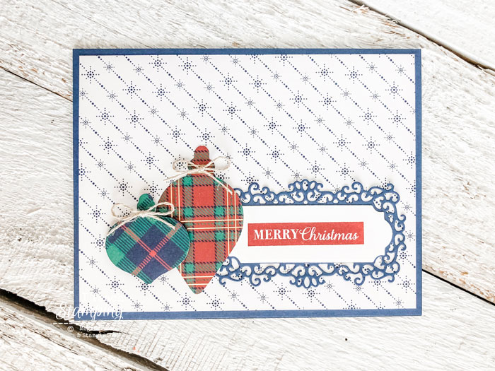 Click through to see how I made this sweet little handmade bauble Christmas card!