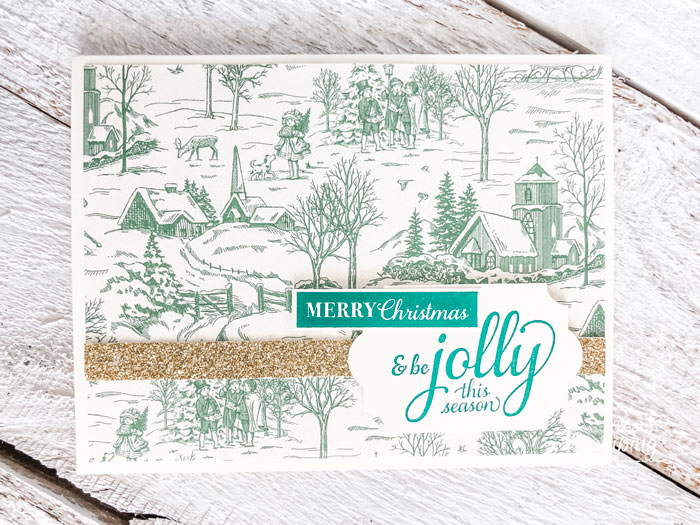 Do you love clean and simple handmade Christmas cards? Click through to check out a super fast and super gorgeous example!