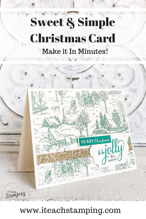 One of the fastest clean and simple handmade Christmas cards I've made AND it uses very limited supplies! Come check out the secret!