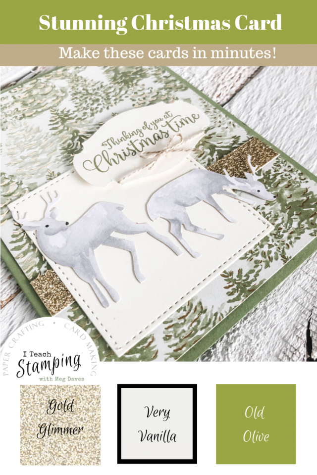 Today I am sharing some absolutely beautiful handmade Christmas cards that go together in a flash and are totally send-worthy!