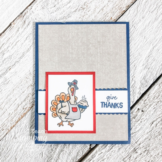 If you create handmade Thanksgiving cards, check out this super cute AND super easy one!