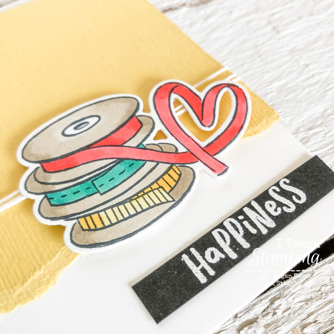 Super cute details from my easy happiness card!
