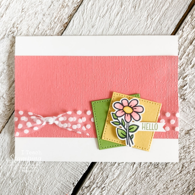 You too can make a sweet little dlower greeting card using the inspiration sketch in this post!