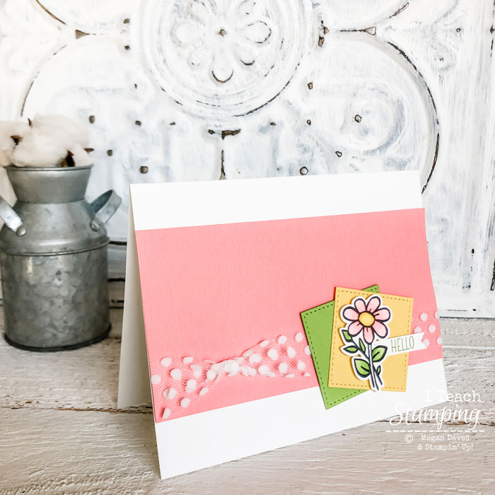Check out a super cute flower greeting card created from a simple inspiration sketch!