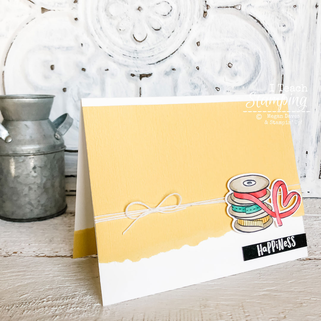 Check out this sweet and simple happiness card that you can make from any supplies you have!