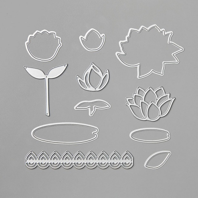 This full set of dies is FREE in the Sale-A-Bration 2020 Catalog and matches the Lily Pad stamps - also FREE!