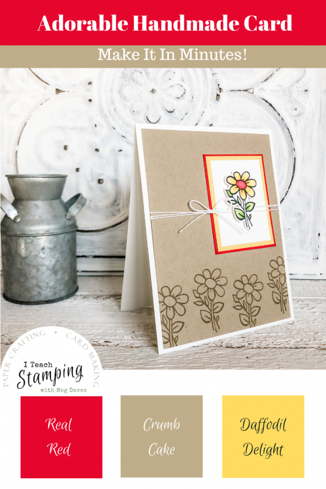 Adorable Handmade Card with Flowers