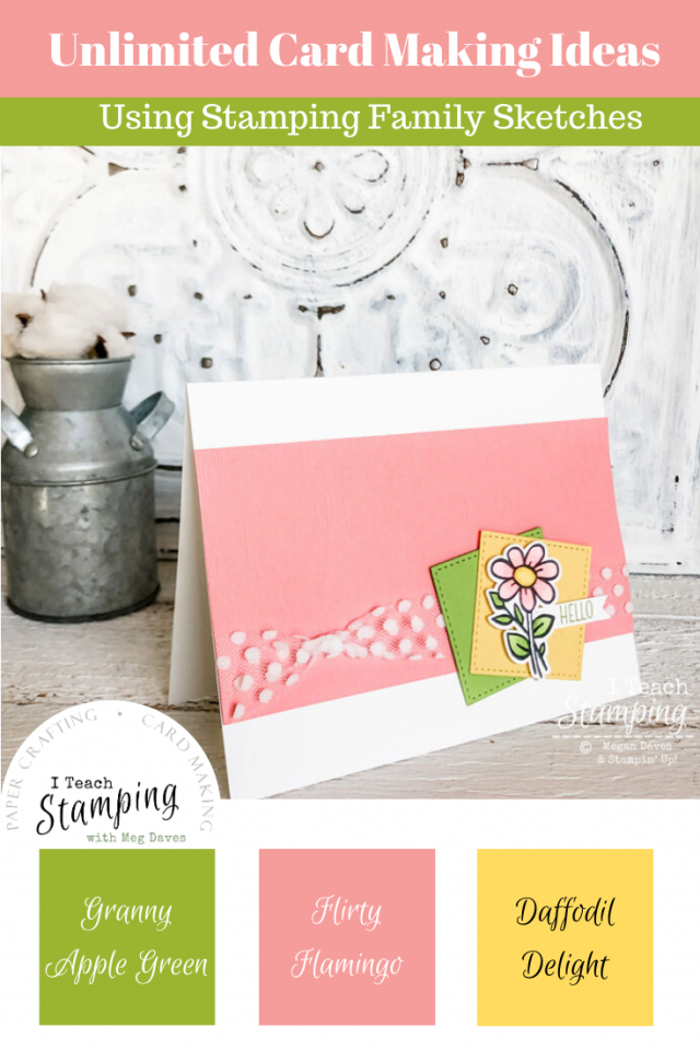 With just a few supplies and this sketch, you can make adorable floral cards.