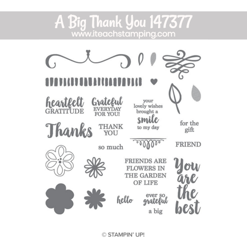 a big thank you stampin up