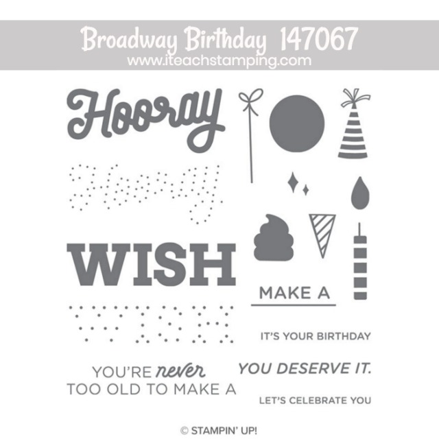 Broadway Birthday Stampin Up