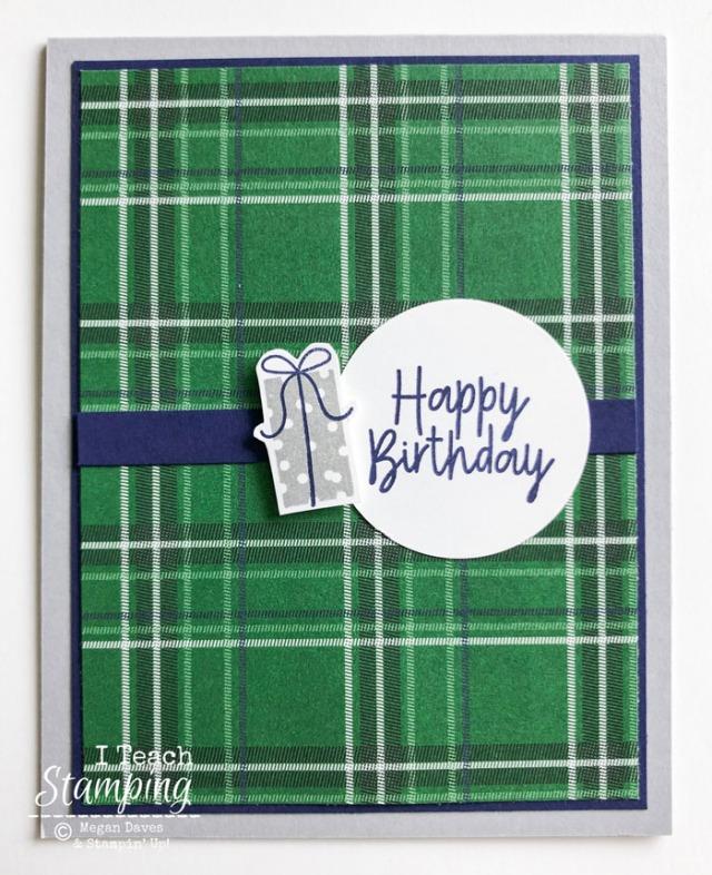 Simple Masculine Birthday Card