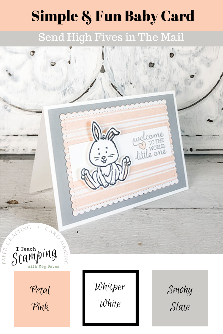 """Handmade baby cards are just the CUTEST - come see what non-baby stamp set gave """"birth"""" to this project!"""
