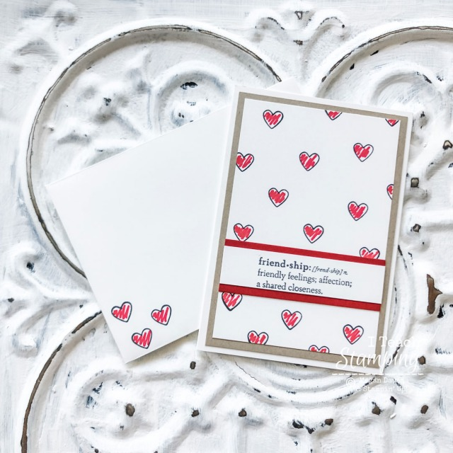 Simple friendship cards you can make in under five minutes? Come see how!