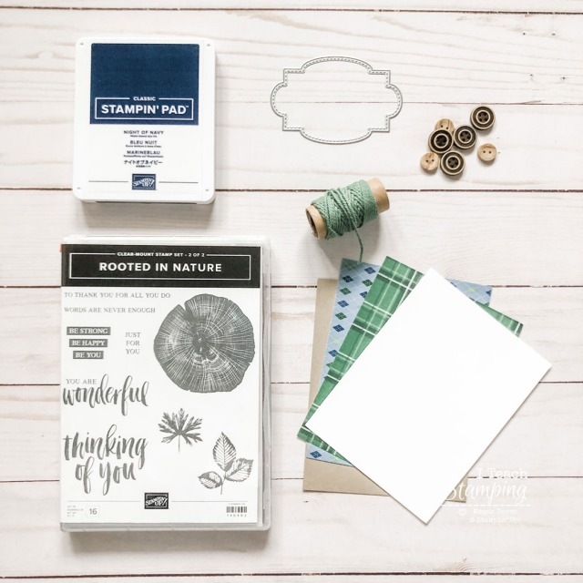supplies for simple masculine card