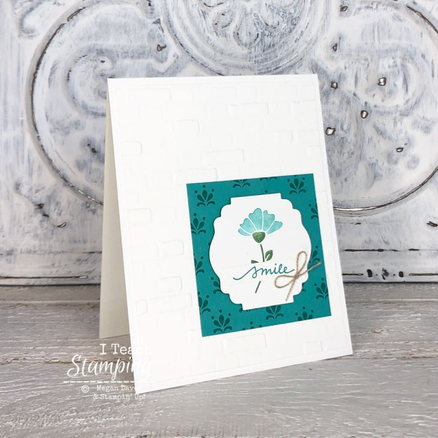 This pretty and simple Smile greeting card was created by coloring stamps with markers - check it out!