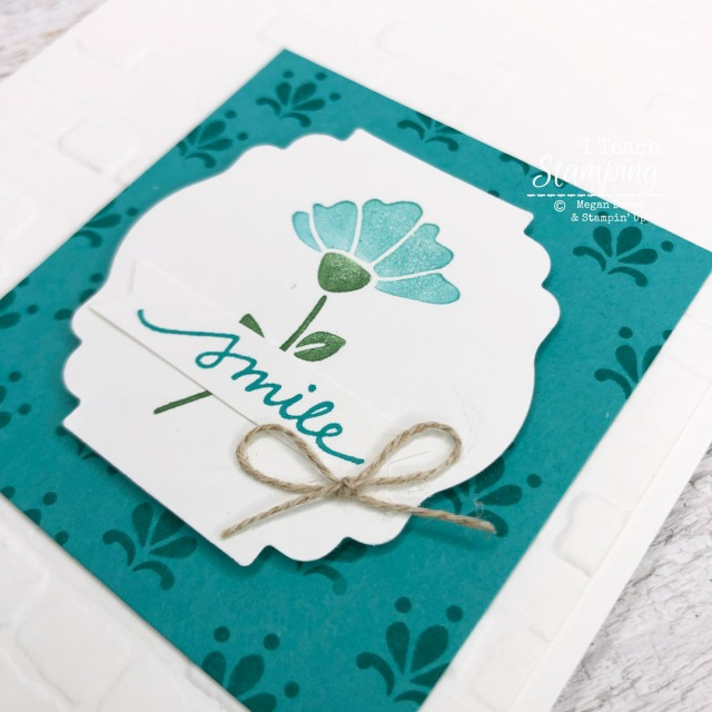 Coloring stamps with markers can give your this simple and pretty two colored focal point - come learn the PRO tip!