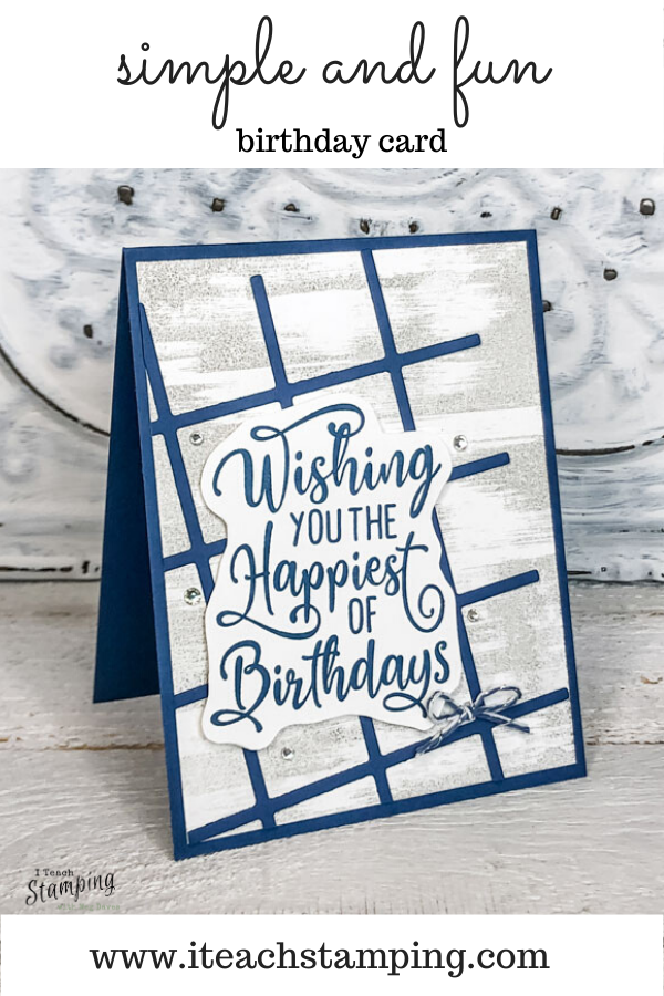 This simple to stepped up card went from basic to bling with just a few touches!