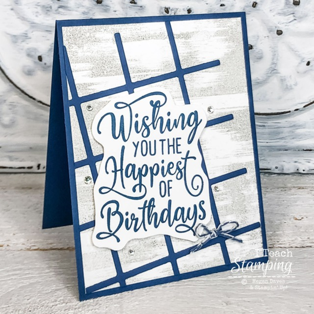This simple to stepped up card was transformed using just a touch of bling - check it out!