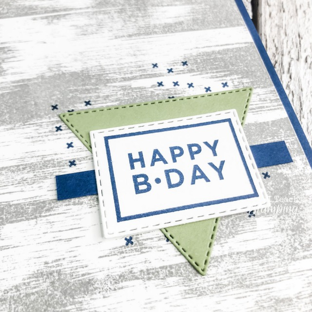 This is a closeup detail of our latest handmade cards for him ideas - come check out how easy it is to make!