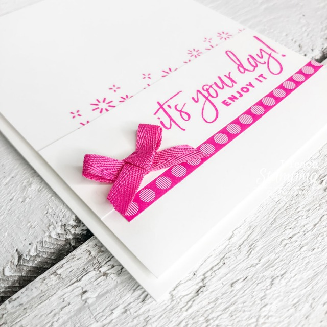 We love new and fresh handmade greeting card ideas - come see how this pretty but simple hot pink cutie was made!