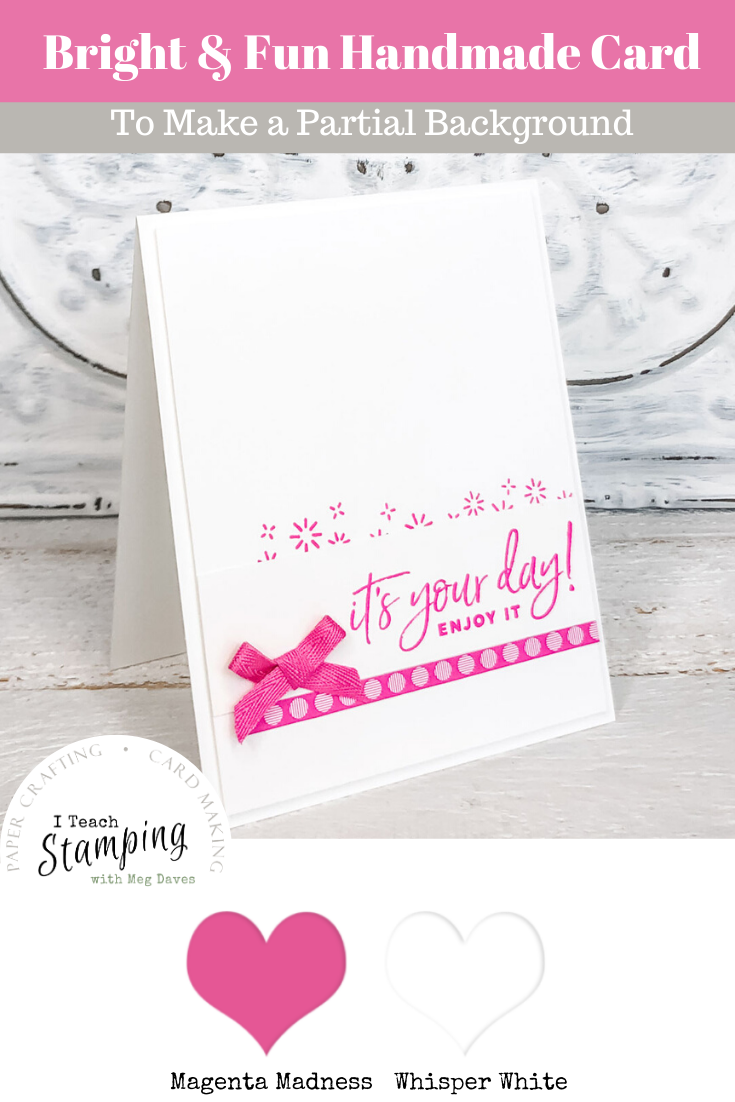 This pretty pink all occasion card uses one of our super simple handmade greeting card ideas - come see how we made it!